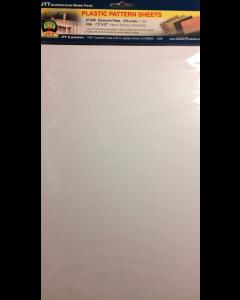 1/100 Traanplaat H0 wit (enkel) 190 x 305mm, 2 stuks (JTT97449)