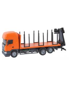 H0 Car System: Scania R13 Korte houtvrachtwagen (HERPA) Faller 161634