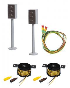 H0 Car System: 2 LED-stoplichten met Stopplaats Faller 161656