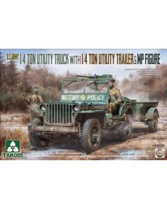 1/35 U.S. Army 1/4 Ton Utility Truck (TAK2126)