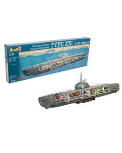 1/144 German Submarine Type XXI U 2540 with Interior (REV05078)