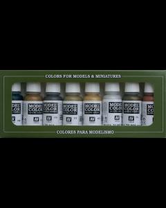 Metallic Model Color Paint Set, 8 kleuren - Vallejo 70118 Vallejo 70118