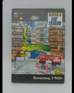 H0 Car System: Wegdek Kruispunt 90° Faller 161661